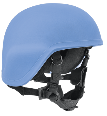 Blauer Helm